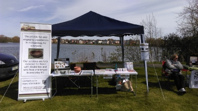 Our stand at the Watermead May Fair